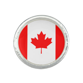 Patriotic Canadian Flag Photo Rings