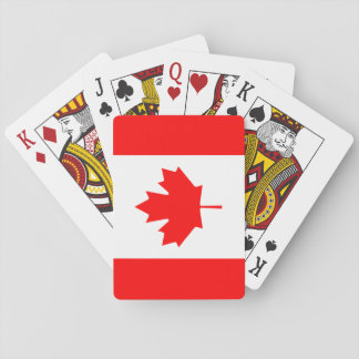 Patriotic Canadian Flag Playing Cards