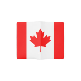 Patriotic Canadian Flag Pocket Moleskine Notebook