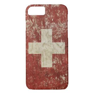 Patriotic case with flag of Swiss