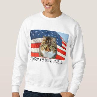 Patriotic Cat Sweatshirt
