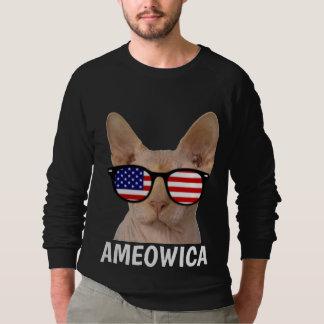 Patriotic Cat T-shirts, Sphynx, AMEOWICA Sweatshirt