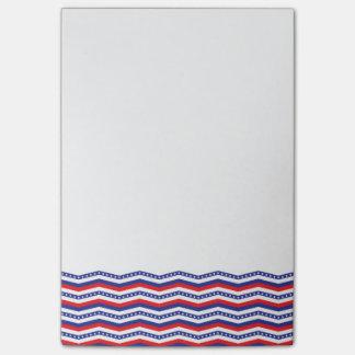 Patriotic Chevron Border Post-It Notes