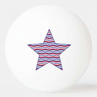 Patriotic Chevron Star Ping Pong Ball