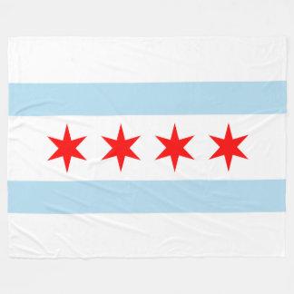 Patriotic Chicago Flag Fleece Blanket