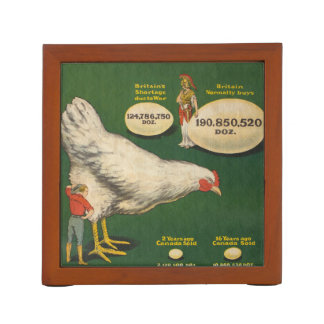 Patriotic Chicken Farm Desk Organizer