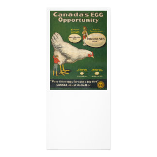 Patriotic Chicken Farm Rack Card