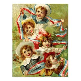 Patriotic Children Postcard