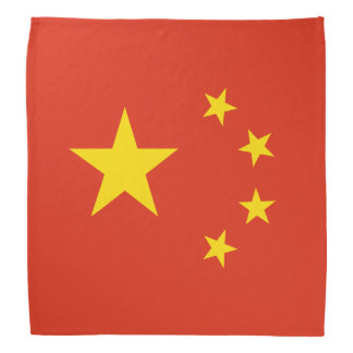 Patriotic Chinese Flag Bandana