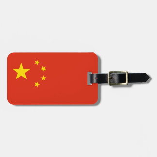 Patriotic Chinese Flag Luggage Tag
