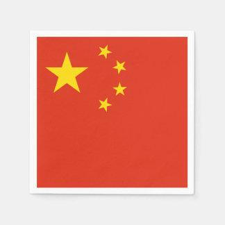 Patriotic Chinese Flag Paper Napkin