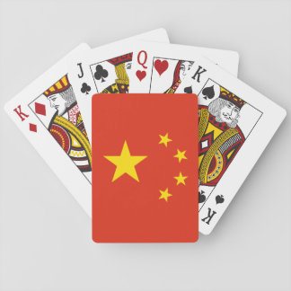 Patriotic Chinese Flag Playing Cards