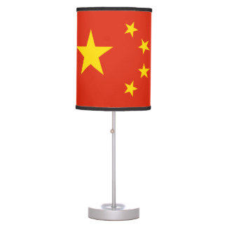 Patriotic Chinese Flag Table Lamp
