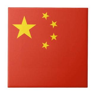 Patriotic Chinese Flag Tile