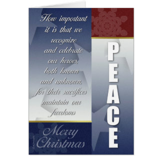 Patriotic CHristmas card with Snowflakes