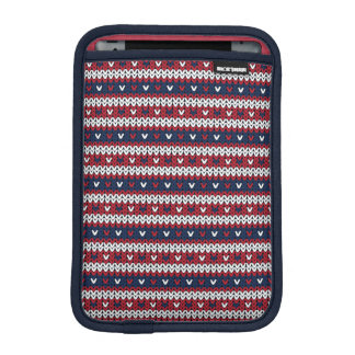 Patriotic Christmas Sweater Pattern iPad Mini Sleeve