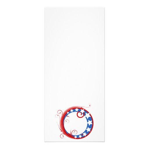 Patriotic Circle Full Color Rack Card