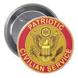 PATRIOTIC CIVILIAN SERVICE BUTTONS