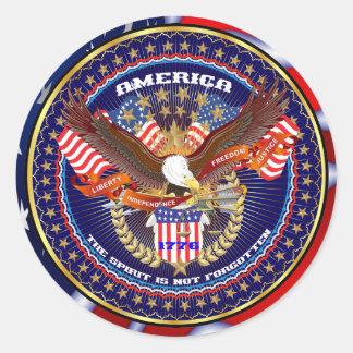 Patriotic Classic Round Sticker
