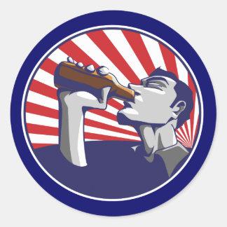 Patriotic colors beer drinking sticker