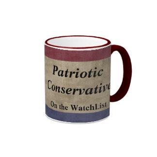 Patriotic Conservative on the Watchlist Ringer Coffee Mug