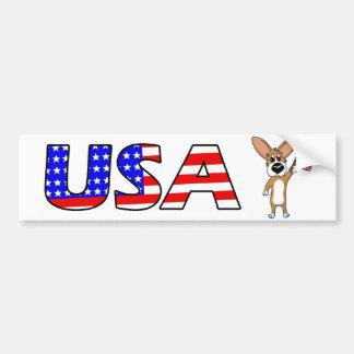 Patriotic Corgi Bumper Sticker