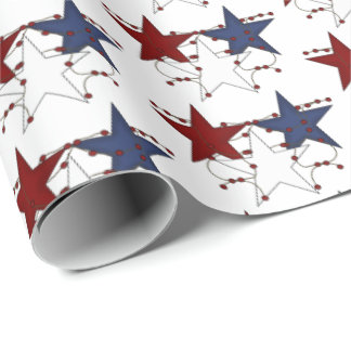 Patriotic Country style stars tiled party wrap