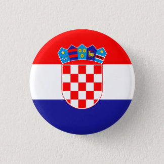Patriotic Croatian Flag 1 Inch Round Button