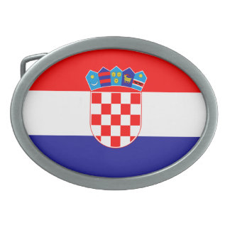 Patriotic Croatian Flag Belt Buckles