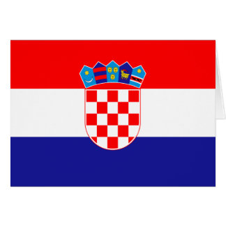 Patriotic Croatian Flag Card