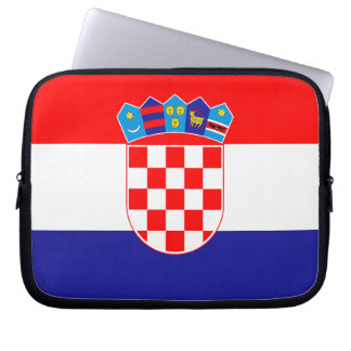 Patriotic Croatian Flag Laptop Sleeve