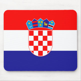 Patriotic Croatian Flag Mouse Pad