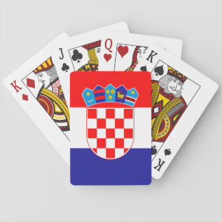 Patriotic Croatian Flag Playing Cards