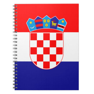 Patriotic Croatian Flag Spiral Notebooks