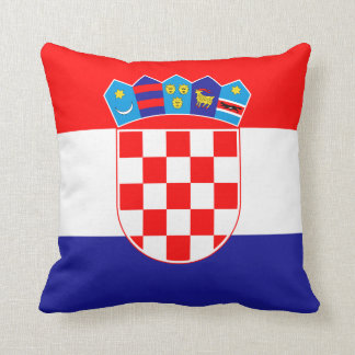 Patriotic Croatian Flag Throw Pillow
