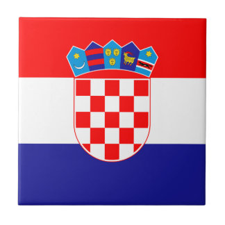 Patriotic Croatian Flag Tile