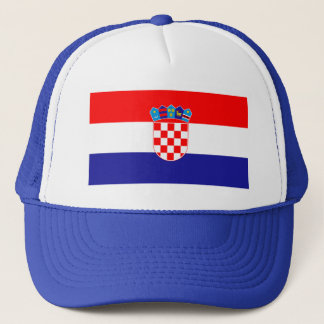 Patriotic Croatian Flag Trucker Hat