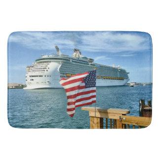 Patriotic Cruise Sailaway Bath Mat