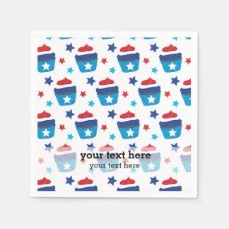 Patriotic Cupcakes Paper Napkin