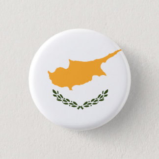 Patriotic Cyprus Flag 1 Inch Round Button