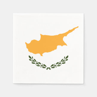 Patriotic Cyprus Flag Disposable Napkins