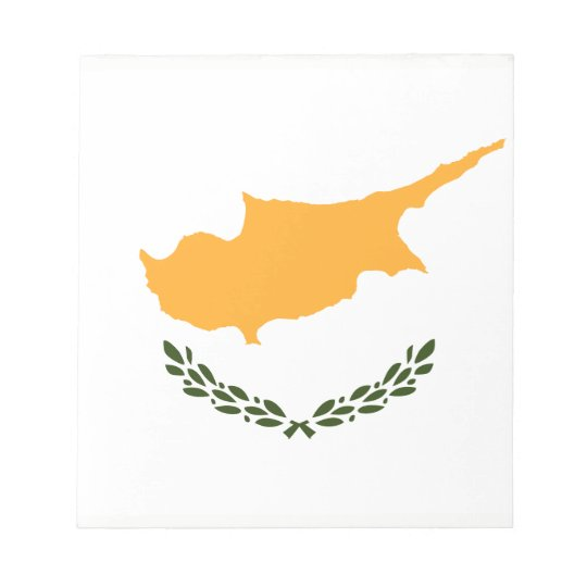 Patriotic Cyprus Flag Notepad