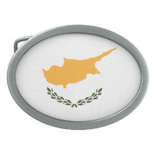Patriotic Cyprus Flag Oval Belt Buckle