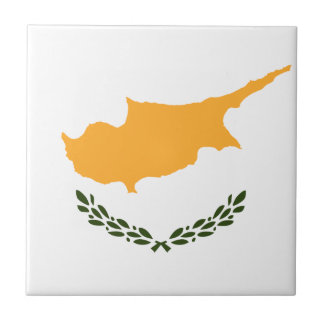 Patriotic Cyprus Flag Tile