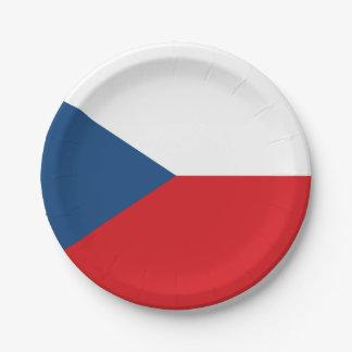 Patriotic Czech Republic Flag 7 Inch Paper Plate