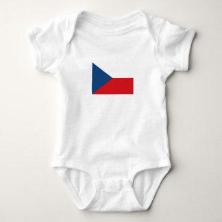 Patriotic Czech Republic Flag Baby Bodysuit