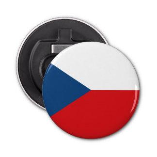 Patriotic Czech Republic Flag Button Bottle Opener