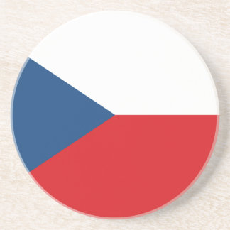 Patriotic Czech Republic Flag Coaster