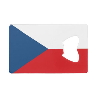 Patriotic Czech Republic Flag Credit Card Bottle Opener