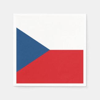 Patriotic Czech Republic Flag Disposable Napkins
